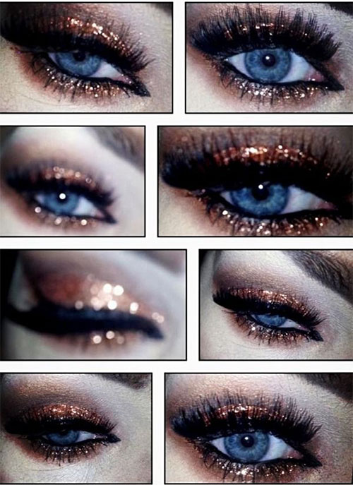 10 Happy New Year Eve Eye Makeup Ideas Looks Trends 2014 2015