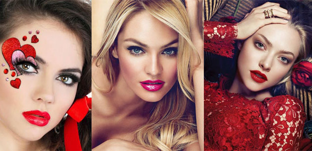 20 Valentine's Day Face Makeup Ideas, Looks & Trends 2016